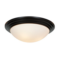 Strata 3 Light 16 inch Oil Rubbed Bronze Flush Mount Ceiling Light in Incandescent