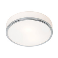 Aero 1 Light 10 inch Chrome Flush Mount Ceiling Light in Incandescent
