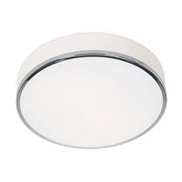 Aero 2 Light 13 inch Chrome Flush Mount Ceiling Light in Incandescent