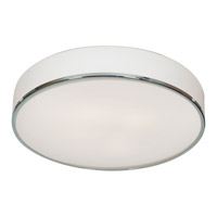 Aero 4 Light 22 inch Chrome Flush Mount Ceiling Light in Incandescent