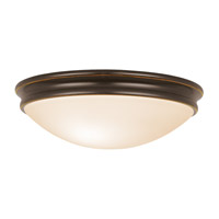 Atom 3 Light 14 inch Oil Rubbed Bronze Flush Mount Ceiling Light in Incandescent