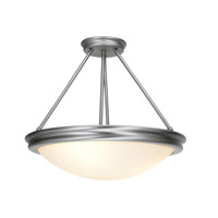 Access Lighting Atom 3 Light Semi-Flush in Brushed Steel 20728-BS/OPL photo thumbnail