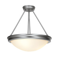 Access Lighting Atom 5 Light Semi-Flush Mount in Brushed Steel 20730-BS/OPL