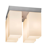 Access Lighting Turin 4 Light Flush Mount in Brushed Steel 20735-BS/OPL photo thumbnail