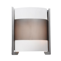 Access Lighting Iron 2 Light Vanity in Brushed Steel with Opal Glass C20739BSOPLEN1218BS