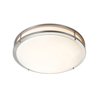 Access Saloris 1 Light Flush Mount in Brushed Steel 20740LEDD-BS/ACR