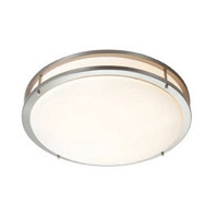 Access Lighting Saloris 1 Light Flush Mount in Brushed Steel 20740-BS/ACR