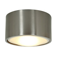 Access Lighting Ares 1 Light Flush or Wall Mount in Brushed Steel 20742LED-BS photo thumbnail