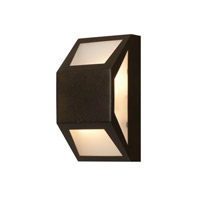 Mission Edge 2 Light 10 inch Bronze Outdoor Wall Light