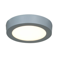 Access Lighting Strike 1 Light Flush Mount in Silver 20770LED-SILV/ACR photo thumbnail