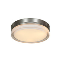 Solid LED 9 inch Brushed Steel Flush Mount Ceiling Light