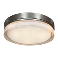 Access 20776LEDD-BS/OPL Solid LED 11 inch Brushed Steel Flush Mount Ceiling Light