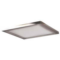 Access 20815LEDD-BS/ACR Boxer LED 10 inch Brushed Steel Flush Mount Ceiling Light