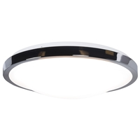 Access 20818LEDD-CH/ACR Lucid LED 14 inch Chrome Flush Mount Ceiling Light