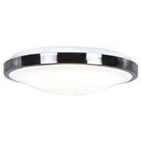 Access 20819LEDD-CH/ACR Lucid LED 16 inch Chrome Flush Mount Ceiling Light