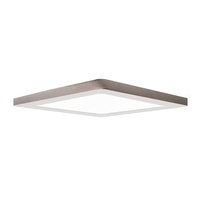Access 20835LEDD-BS/ACR Modplus LED 12 inch Brushed Steel Flush Mount Ceiling Light Square