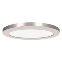 Access 20836LEDD-BS/ACR Modplus LED 7 inch Brushed Steel Flush Mount Ceiling Light Round