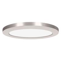 Access 20838LEDD-BS/ACR Modplus LED 12 inch Brushed Steel Flush Mount Ceiling Light Round