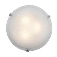 Mona 2 Light 12 inch Chrome Flush Mount Ceiling Light in Alabaster, Incandescent