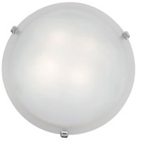 Mona 2 Light 16 inch Chrome Flush Mount Ceiling Light in White