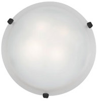 Access Lighting Mona 3 Light Flush-Mount in Rust with White Glass 23020-RU/WH