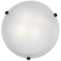 Access Lighting Mona 1 Light Flush Mount in Rust 23020LED-RU/WH