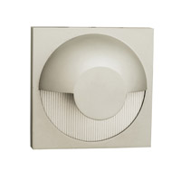 ZYZX 1 Light 5 inch Satin Outdoor Wall in Incandescent