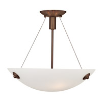 Noya 3 Light 17 inch Bronze Semi-Flush Mount Ceiling Light in White