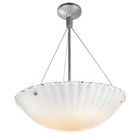 Access Lighting Venus 3 Light Semi-Flush in Brushed Steel 23079-BS/WHT