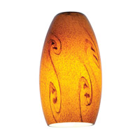 Access Lighting Inari Silk Glass Shade with Amber Sky Glass 23111-ASKY