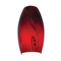 Inari Silk Ruby Sky Glass Shade in Red Sky