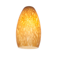 Access Lighting Inari Silk Glass Shade with Amber Stone Glass 23112-AMST
