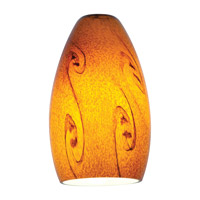Access Lighting Inari Silk Glass Shade with Amber Sky Glass 23112-ASKY