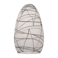 Access Lighting Inari Silk Glass Shade with Black on White Glass 23112-BLWH