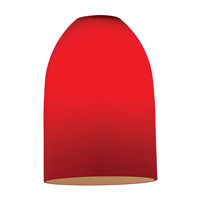 Inari Silk Red Glass Shade, Dome