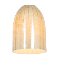 Inari Silk Dome Shade in Wicker Amber