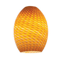 FireBird Ostrich Amber Fire Bird Glass Shade in Amber Firebird