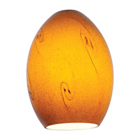 FireBird Ostrich Amber Sky Glass Shade