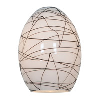 Access Lighting FireBird Ostrich Glass Shade with Black on White Glass 23123-BLWH