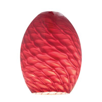 Access 23123-REDFB FireBird Ostrich REDFB Glass Shade in Red Firebird