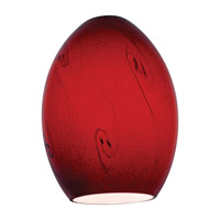 FireBird Ostrich Ruby Sky Glass Shade in Red Sky
