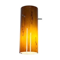 Access Lighting Inari Silk Glass Cylinder with Amber Sky Glass 23130-ASKY