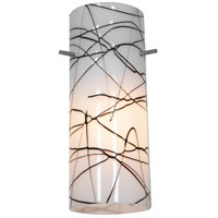 Access Lighting Inari Silk Glass Cylinder with Black on White Glass 23130-BLWH