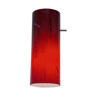Access Lighting Inari Silk Glass Cylinder with Ruby Sky Glass 23130-RUSKY