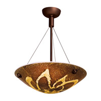 Access Lighting Safari 3 Light Semi-Flush in Bronze 23200-BRZ/AMZ