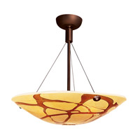 Access Lighting Safari 3 Light Semi-Flush in Bronze 23200-BRZ/LAV