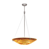 Access Lighting Safari 4 Light Pendant in Brushed Steel 23203-BS/AMZ
