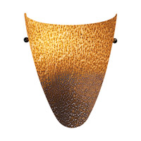 Access Lighting Safari 1 Light Italian Art Glass Wall Sconce with Silver Amber Glass 23204LED-SLA