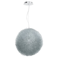 Matalica 1 Light 16 inch Brushed Steel Pendant Ceiling Light
