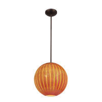 Access Lighting Safari 1 Light Pendant in Bronze 23640-BRZ/SARO